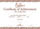 ProTeens Certificate of Achievement Photo